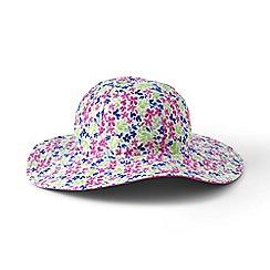 Lands' End - Pink girls' reversible sun hat