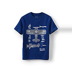 Lands' End - Boys Toddler Blue novelty graphic tee