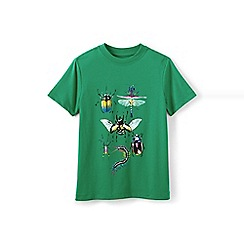 Lands' End - Boys Toddler Green novelty graphic tee