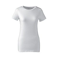 Lands' End - White cotton/modal tall crew neck tee
