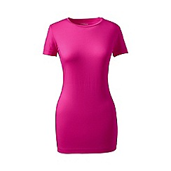 Lands' End - Pink tall cotton/modal crew neck tee