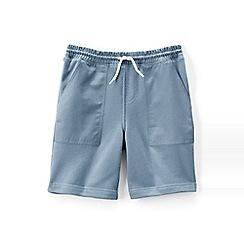 Lands' End - Blue boys' fleecy sweat shorts