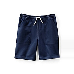 Lands' End - Blue boys' fleecy sweat shorts