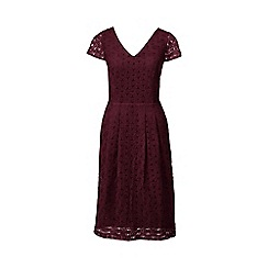 Lands' End - Purple regular embroidered cap sleeve dress