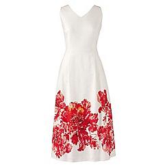 Lands' End - White regular sleeveless v-neck dress