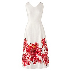 Lands' End - White petite sleeveless v-neck dress