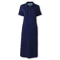 Lands' End - Blue regular pique polo dress