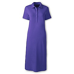 Lands' End - Purple regular pique polo dress