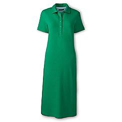 Lands' End - Green regular pique polo dress