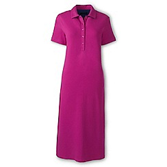 Lands' End - Pink regular pique polo dress