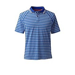 Lands' End - Blue striped fairway golf polo