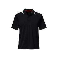 Lands' End - Black fairway golf polo