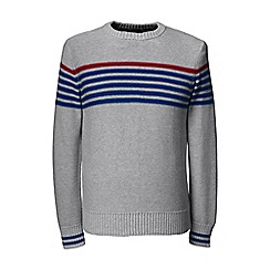 Lands' End - Grey chest stripe drifter