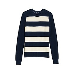 Lands' End - Blue rugby stripe drifter sweater