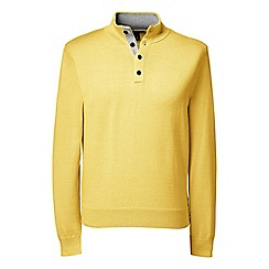 Lands' End - Yellow men's fine gauge button/neck sweater