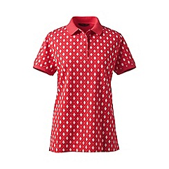 Lands' End - Red petite pique polo