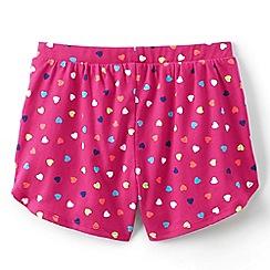 Lands' End - Pink girls' patterned pocket shorts