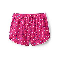 Lands' End - Pink girls' patterned pocket shorts