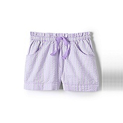 Lands' End - Purple girls' seersucker shorts