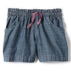 Lands' End - Girls Toddler Blue chambray shorts