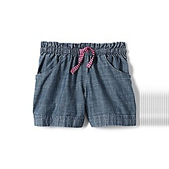 Lands' End - Blue girls' chambray shorts