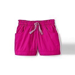 Lands' End - Pink girls' woven shorts