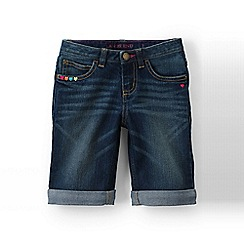 Lands' End - Blue girls' denim bermuda shorts