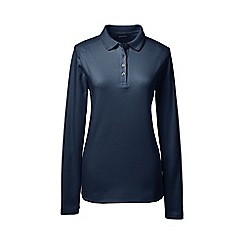 Lands' End - Blue detailed collar pima polo