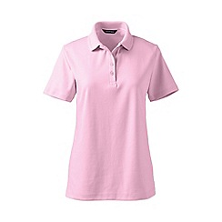Lands' End - Pink petite detailed collar pima polo