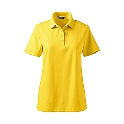 Lands' End - Yellow petite detailed collar pima polo