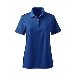 Lands' End - Bright blue detailed collar pima polo