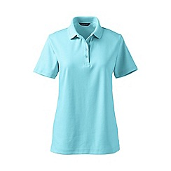 Lands' End - Blue tall detailed collar pima polo
