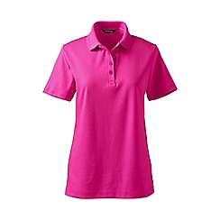 Lands' End - Purple tall detailed collar pima polo