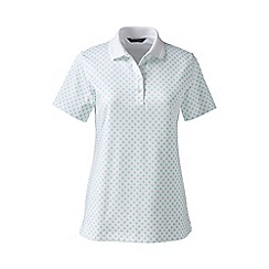 Lands' End - White detailed collar pima polo