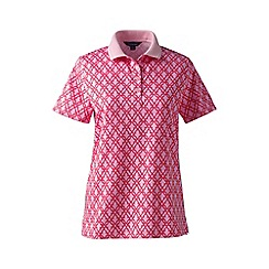 Lands' End - Pink detailed collar pima polo