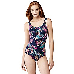 Lands' End - Multi dd-cup paisley scoop neck slender swimsuit