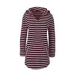 Lands' End - Red regular medium weight jersey hoodie