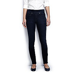Lands' End - Blue regular mid rise pull on skinny jeans