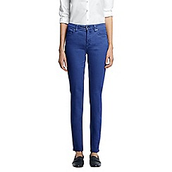 Lands' End - Blue petite mid rise slim leg jeans