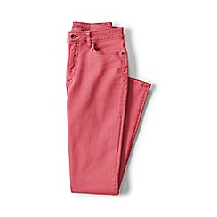 Lands' End - Pink plus mid rise slim leg jeans