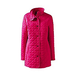 Lands' End - Red petite quilted primaloft parka