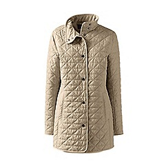 Lands' End - Green petite quilted primaloft parka