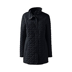 Lands' End - Black plus quilted primaloft parka