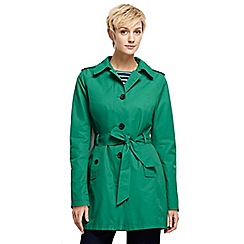 Lands' End - Green petite harbour trench coat