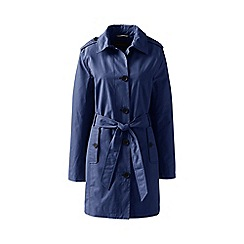 Lands' End - Blue petite harbour trench coat