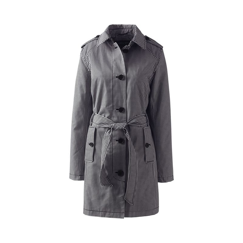 Lands End Grey print harbour trench coat