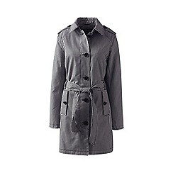 Lands' End - Grey petite print harbour trench coat
