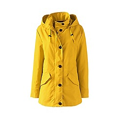 Lands' End - Yellow stormraker rain jacket