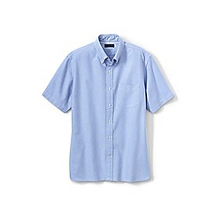 Lands' End - Blue short sleeve sail rigger oxford shirt