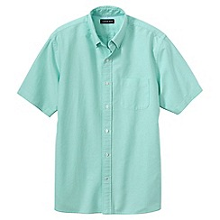 Lands' End - Green short sleeve sail rigger oxford shirt